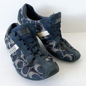 Coach Katelyn blue tennis shoes sneakers